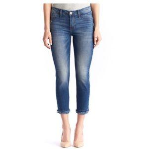 Rock & Republic Kashmiere Frayed Crop Skinny Jeans